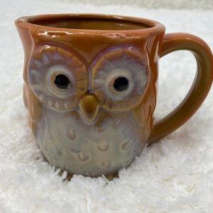 Owl Ceramic Orange Mug - NEW